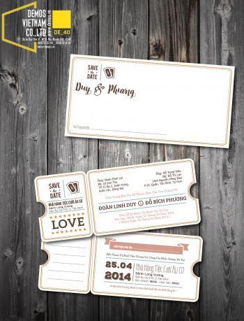 Thiệp cưới độc đáo mẫuDE40