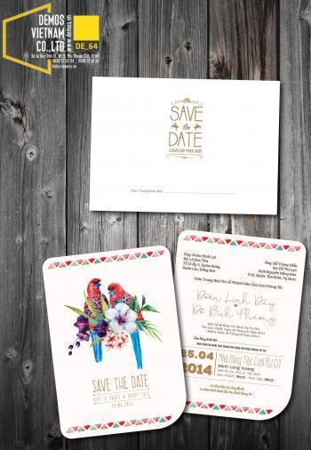 Thiệp cưới độc đáo mẫuDE64
