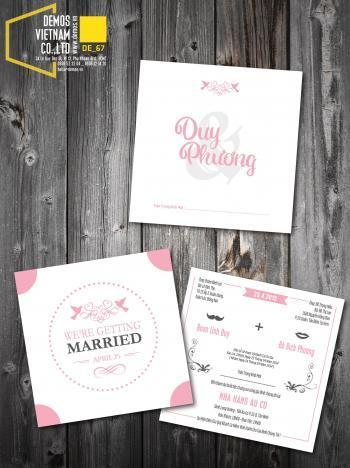 Thiệp cưới độc đáo mẫuDE67