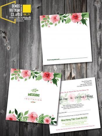 Thiệp cưới độc đáo mẫuDE71