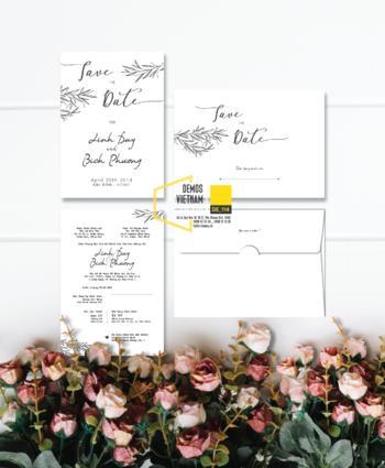 Thiệp cưới độc đáo mẫuDE114