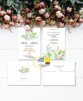 Thiệp cưới độc đáo mẫuDE110
