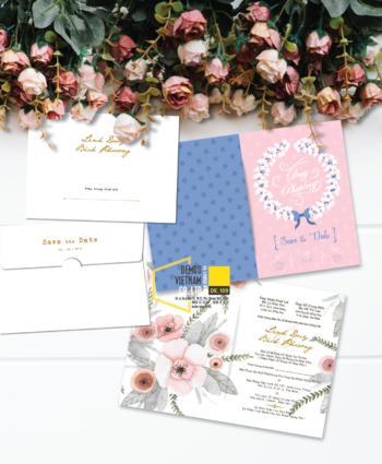 Thiệp cưới độc đáo mẫuDE109