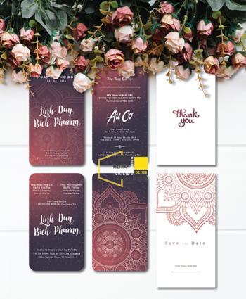 Thiệp cưới độc đáo mẫuDE108