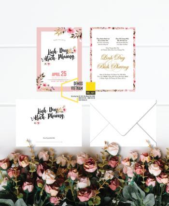 Thiệp cưới độc đáo mẫuDE101