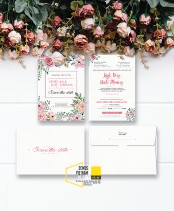 Thiệp cưới độc đáo mẫuDE99