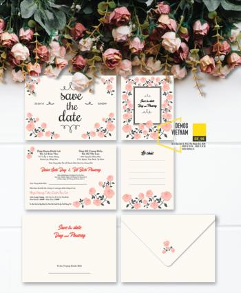 Thiệp cưới độc đáo mẫuDE98