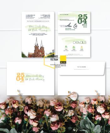 Thiệp cưới độc đáo mẫuDE115