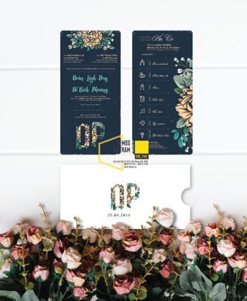 Thiệp cưới độc đáo mẫuDE116