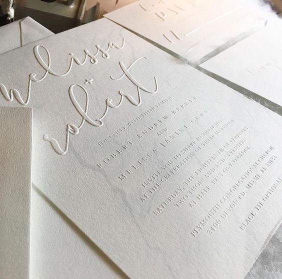 Thiệp cưới bế nổi ( letterpress )