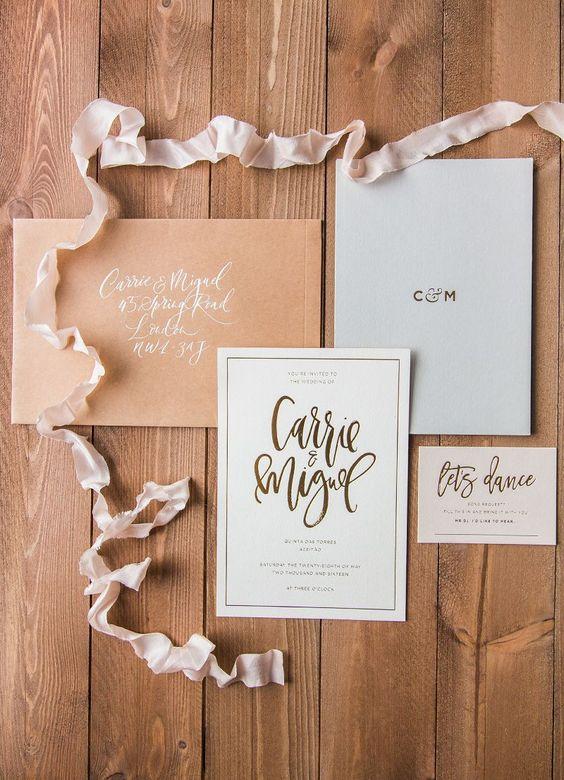 Thiệp cưới Ép nhũ (foil)