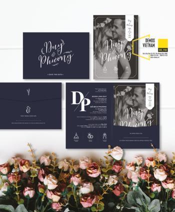 Thiệp cưới độc đáo mẫuDE118