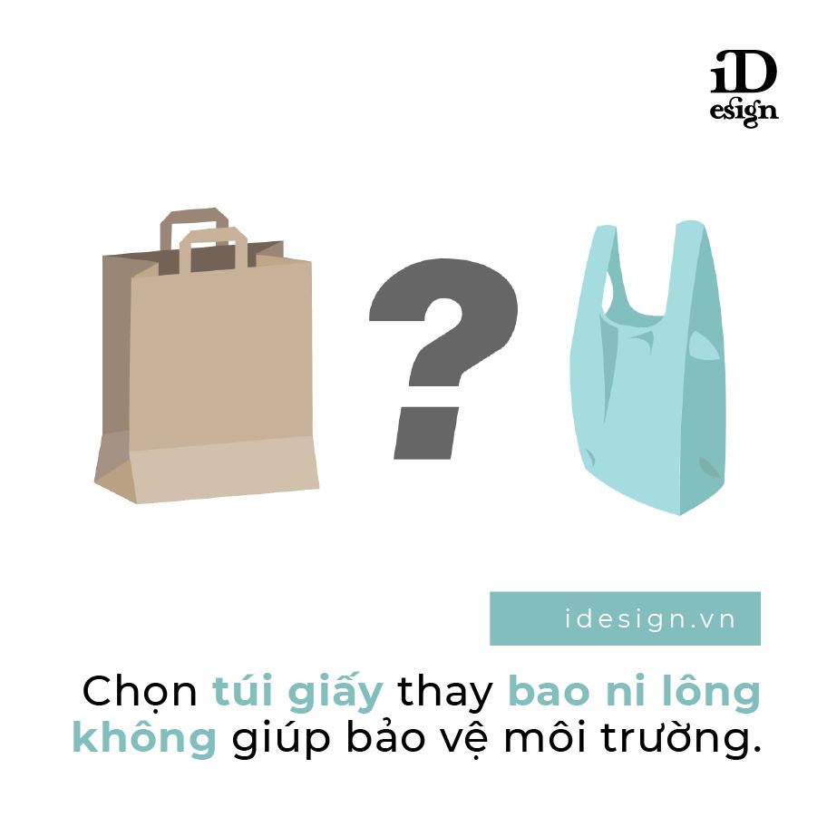 Túi giấy hay bao nilong ?